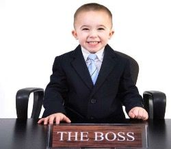 Business kid